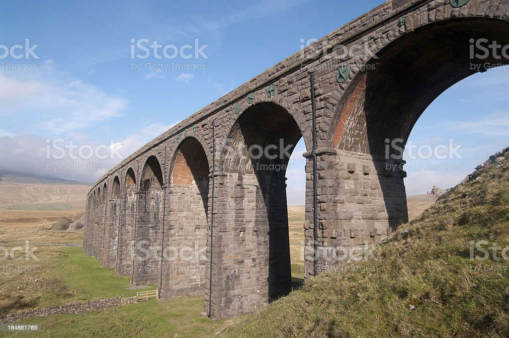 Ribblehead viaduct in Cumbria stock photo