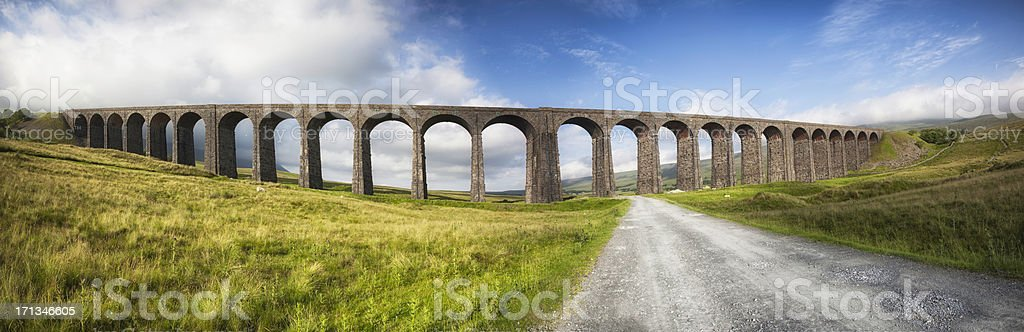 Ribblehead viaduct in Yorkshire Dales, England. stock photo