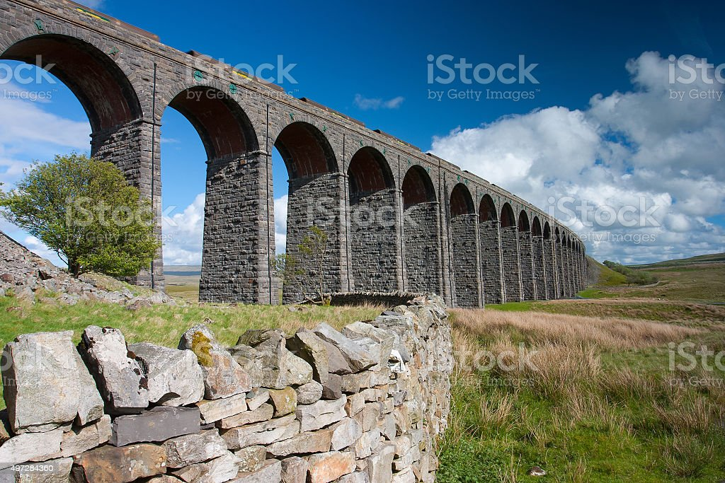 Ribblehead Viaduct in Yorkshire Dales National Park stock photo