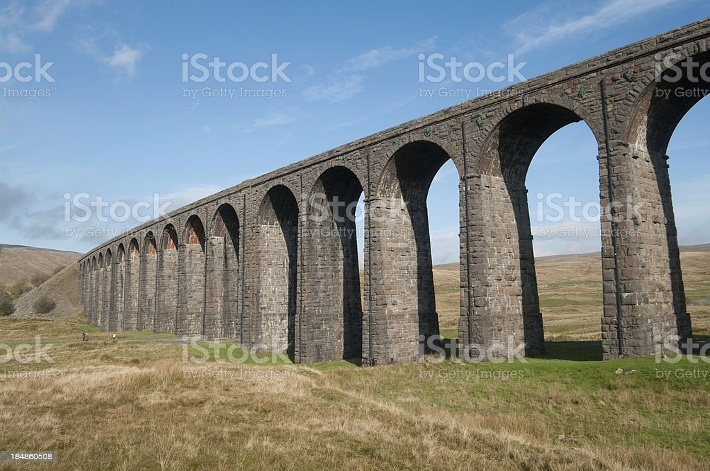 Ribblehead Viaduct in Yorkshire Dales stock photo