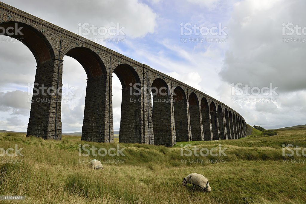 Ribblehead Viaduct. stock photo
