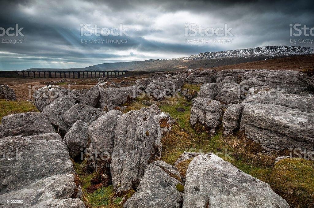 Ribblehead Viaduct, Whernside, North Yorkshire, UK stock photo