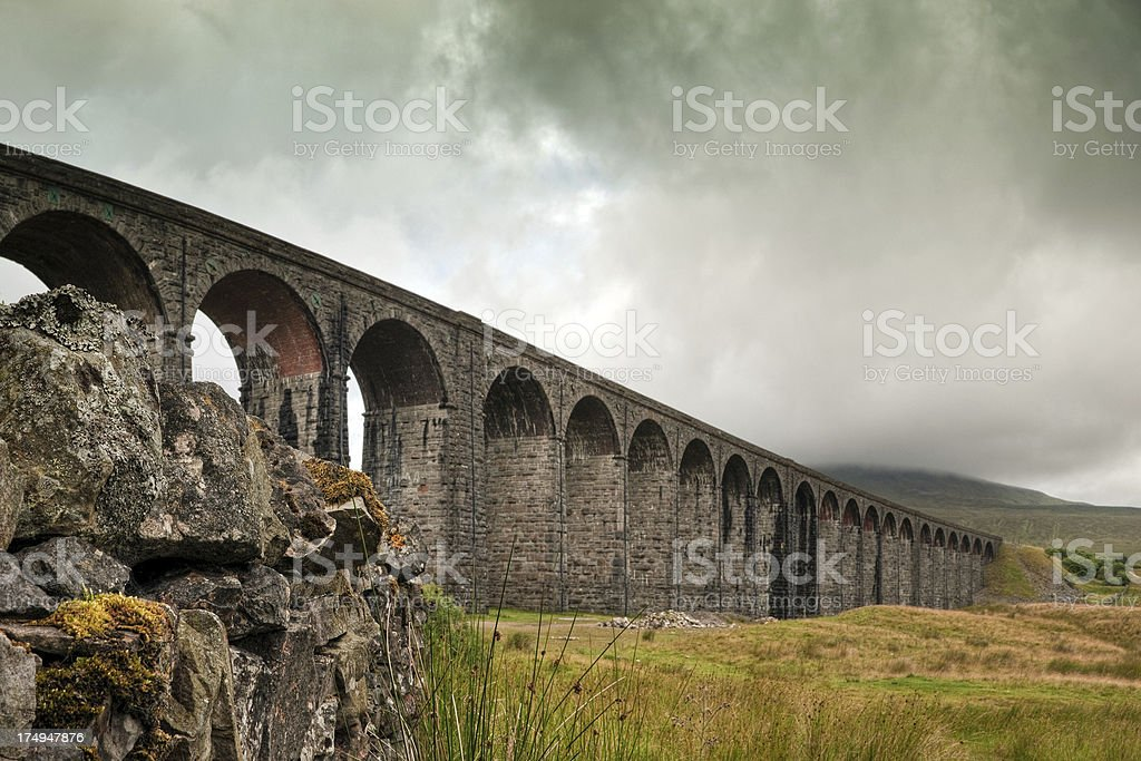 Ribblehead viaduct, Whernside, Yorkshire Dales, UK royalty-free stock photo