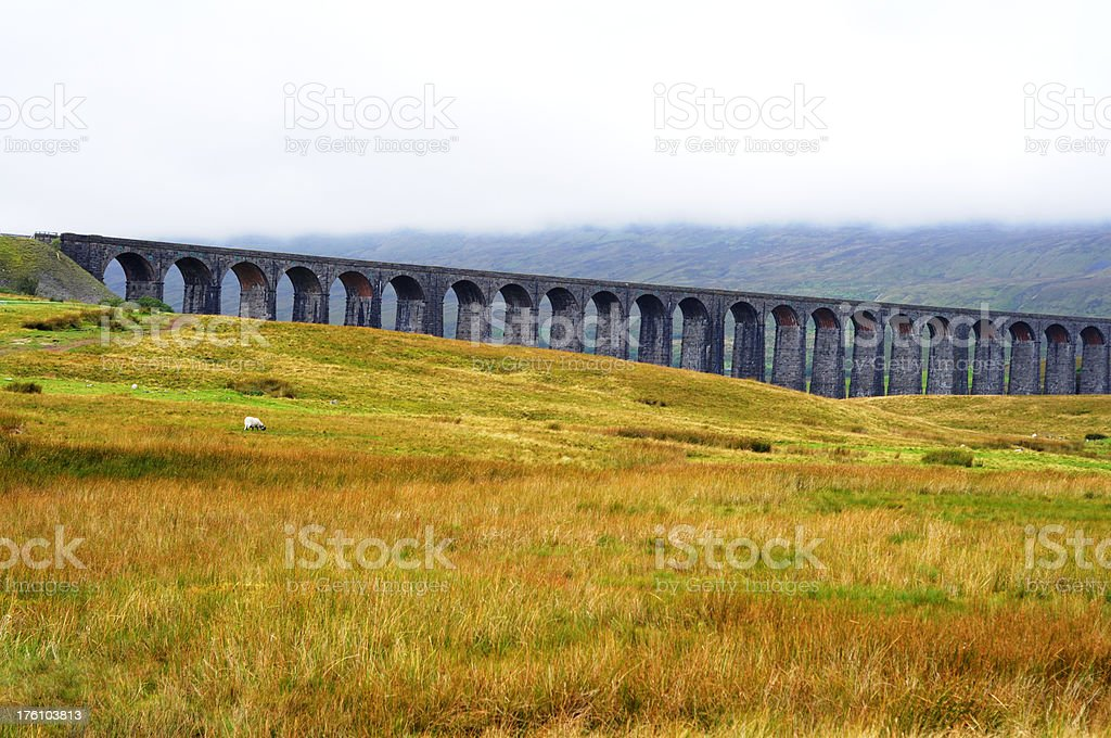 Ribblehead Viaduct, Yorkshire Dales stock photo