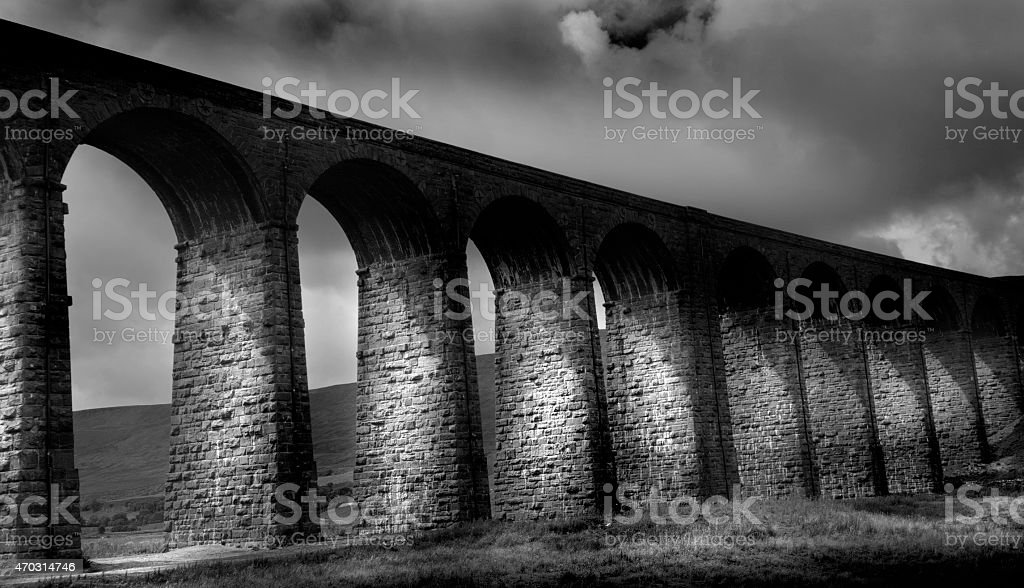 Ribblesdale Viaduct stock photo