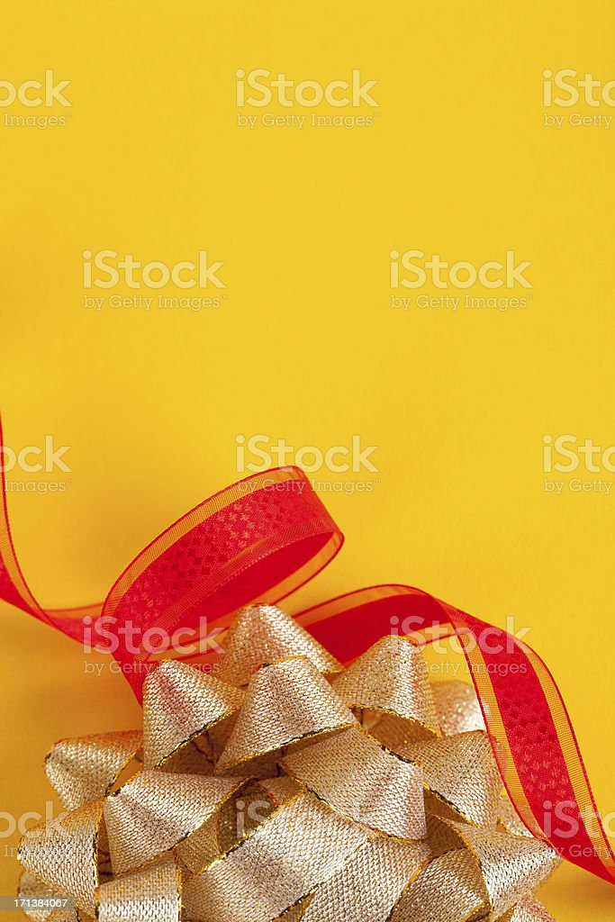 Ribbon and bow stock photo