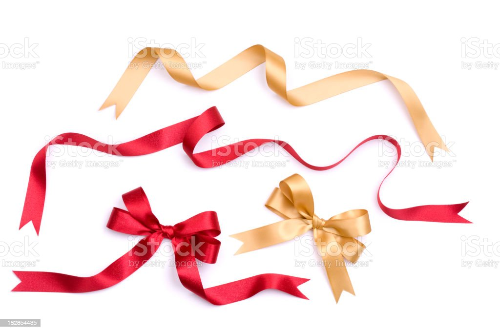 Ribbon and Bow Set stock photo