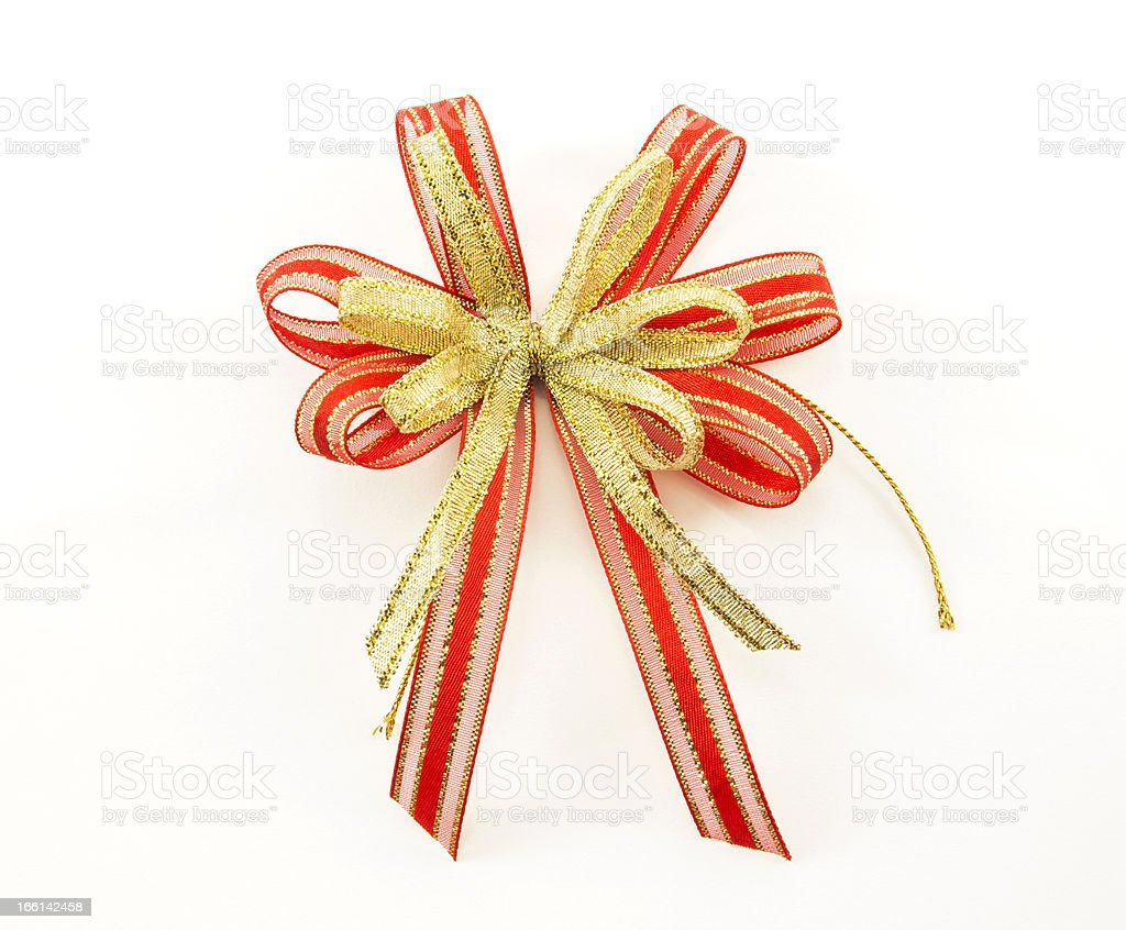 ribbon bow on white background royalty-free stock photo