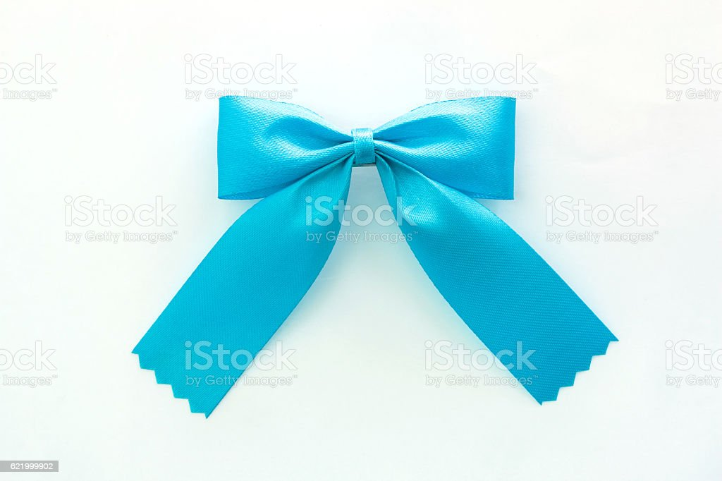 ribbon bow on white background stock photo