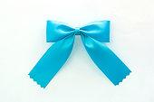 ribbon bow on white background
