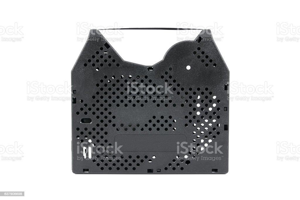 Ribbon cartridge for dot matrix printer isolated on white background stock photo