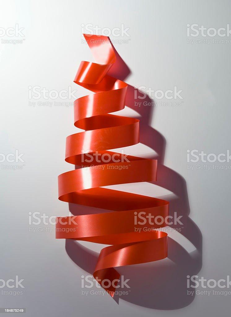 Ribbon Christmas Tree royalty-free stock photo