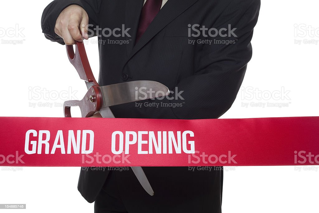 Ribbon cutting ceremony royalty-free stock photo