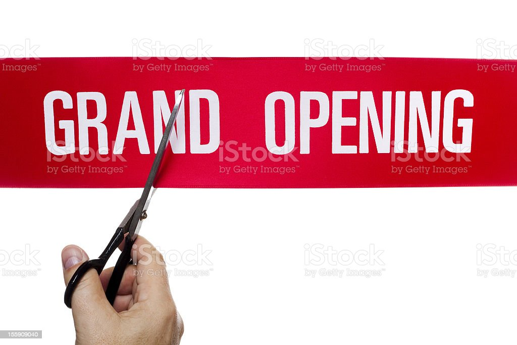 Ribbon cutting event royalty-free stock photo