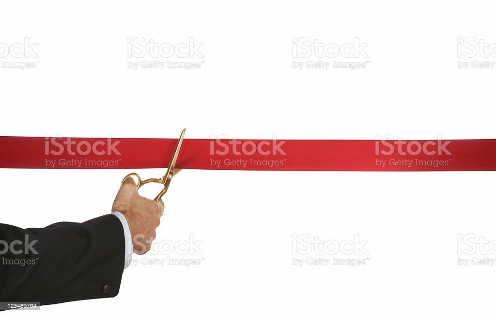 Ribbon cutting royalty-free stock photo