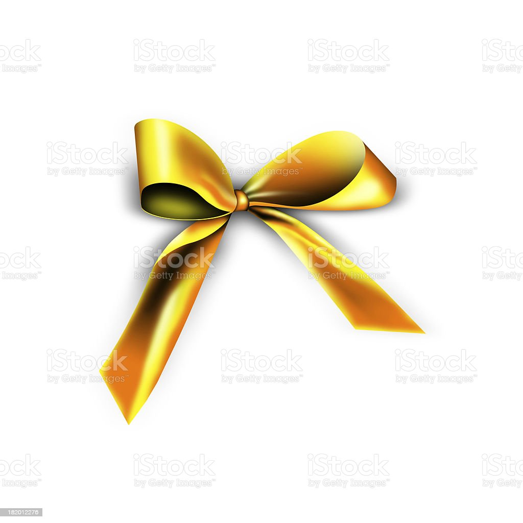ribbon for a Christmas present royalty-free stock photo