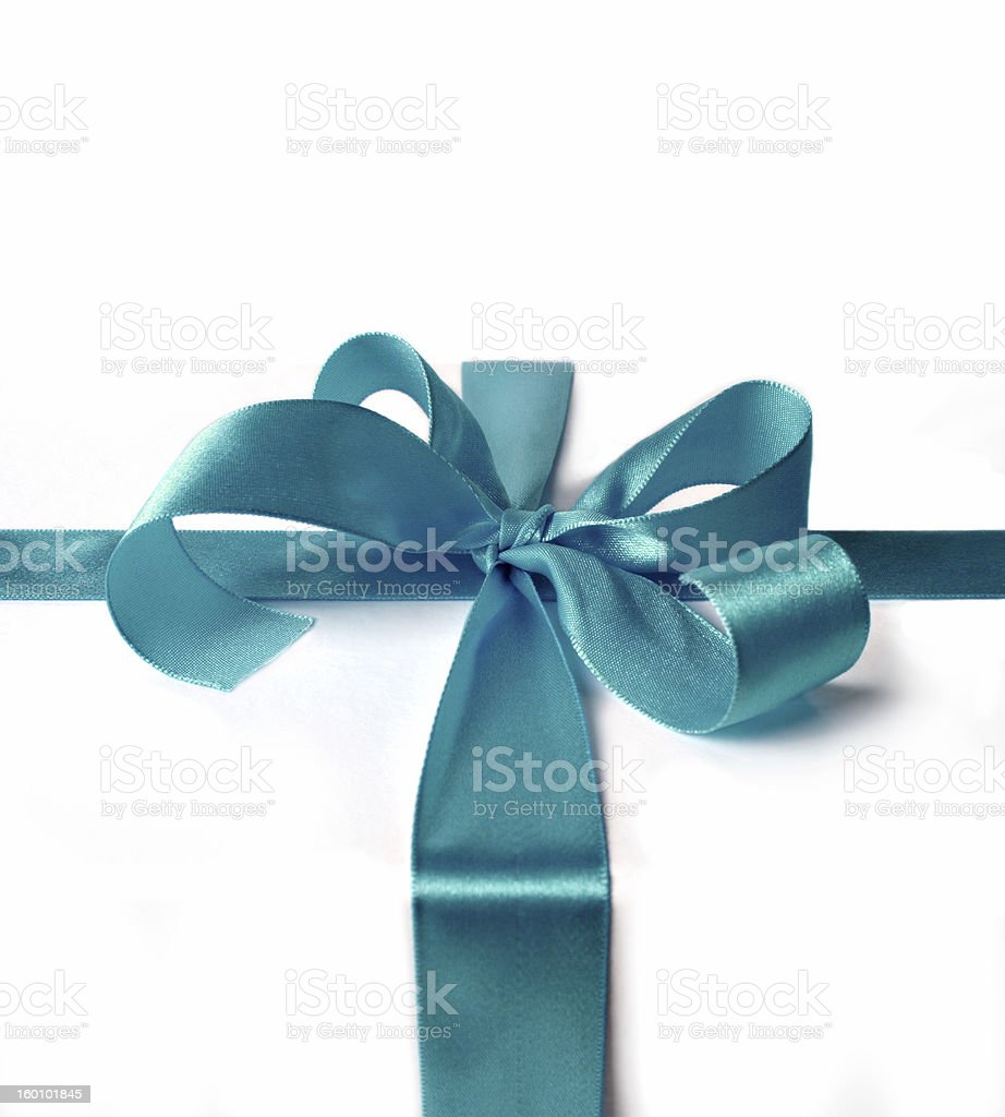 ribbon for gift box stock photo