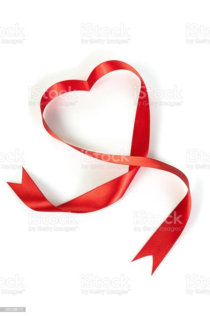 Ribbon heart royalty-free stock photo
