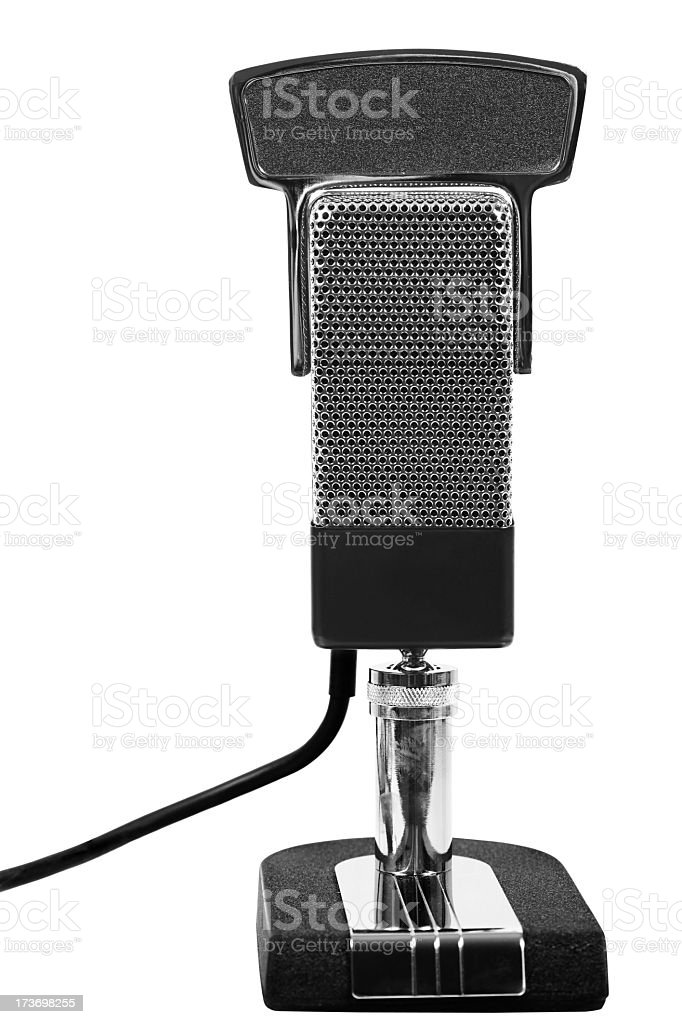 Ribbon Microphone stock photo
