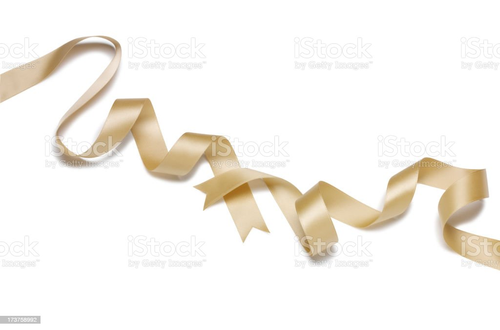 Ribbon of Gold stock photo