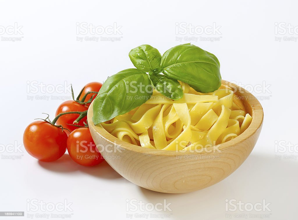 Ribbon pasta royalty-free stock photo