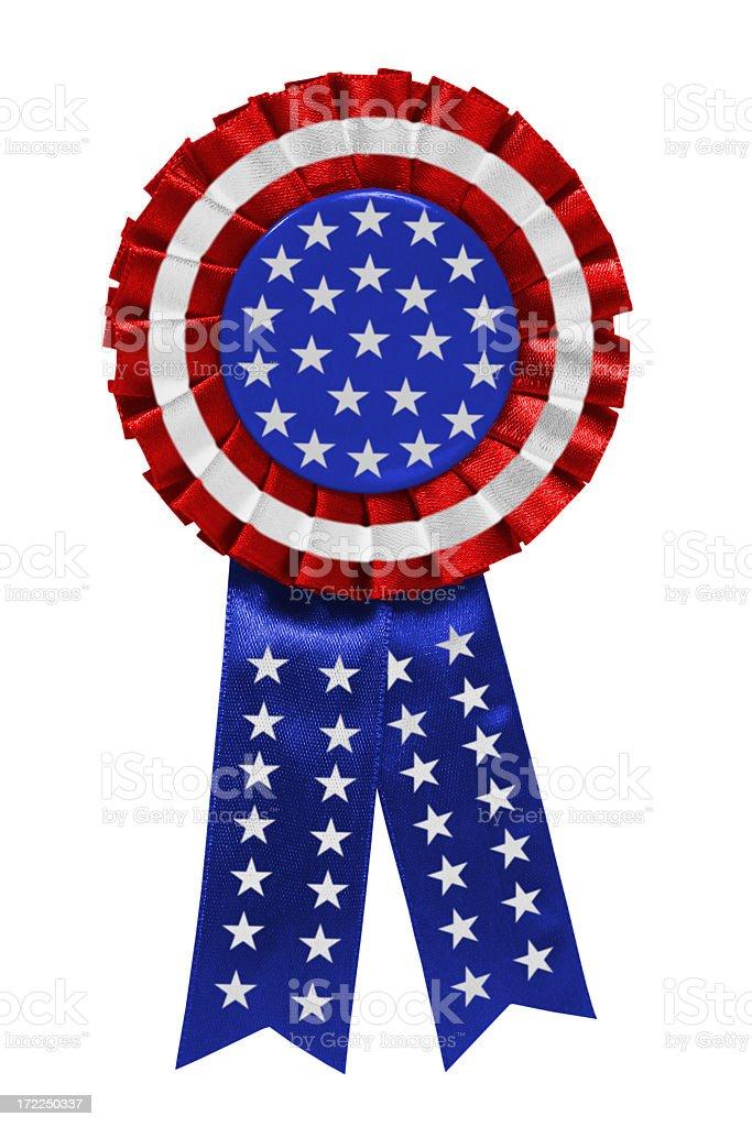 USA ribbon stock photo