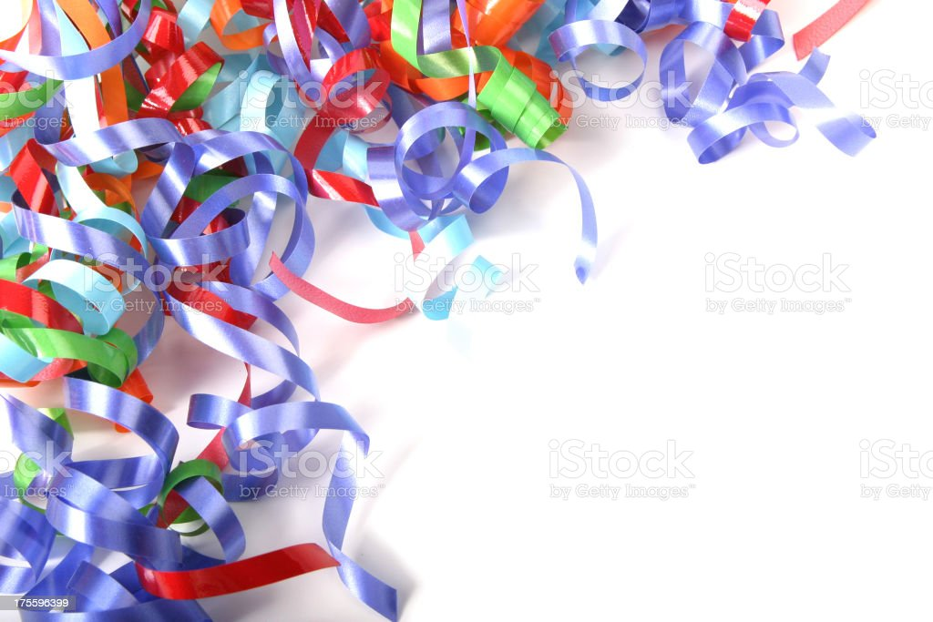 Ribbon Series (on white with copy space) royalty-free stock photo