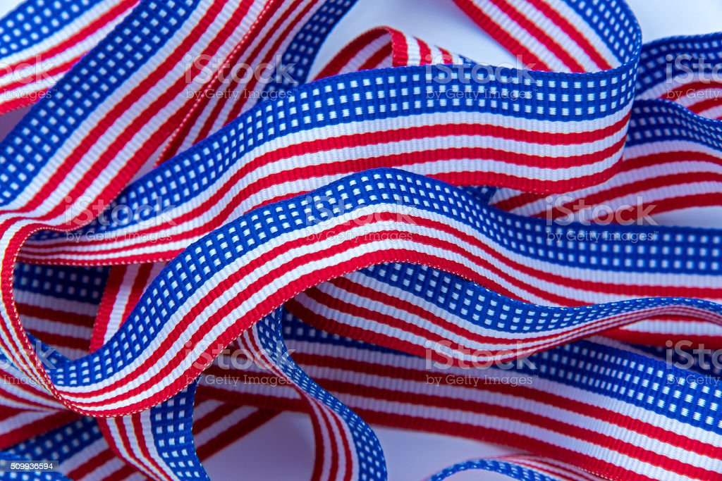 Ribbon with Stars and Stripes pattern stock photo