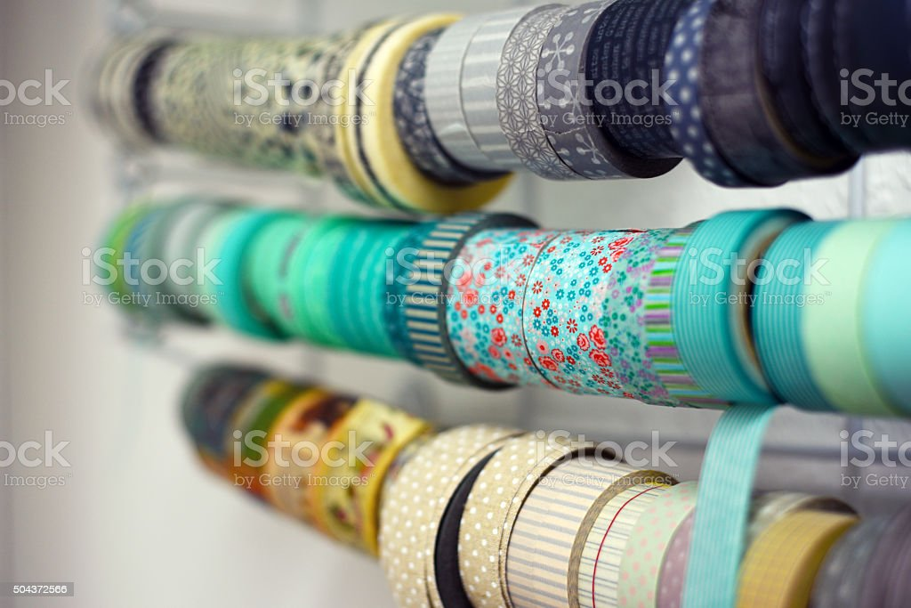Ribbons for your handicraft work stock photo