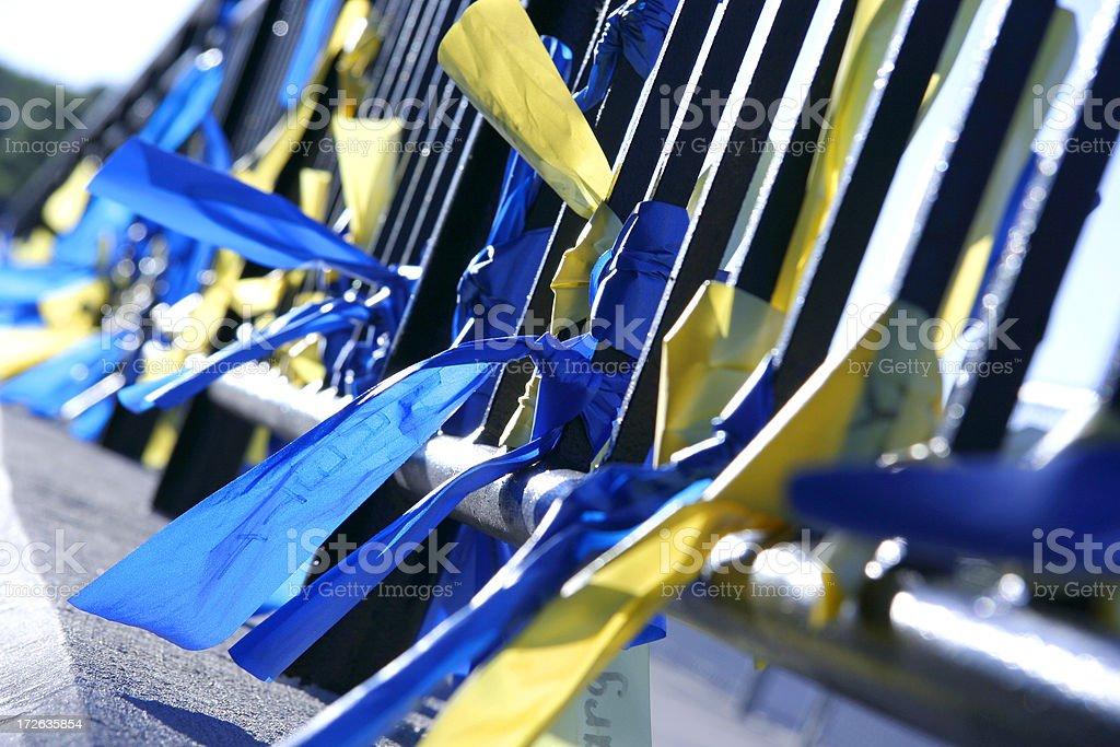 Ribbons of Hope royalty-free stock photo