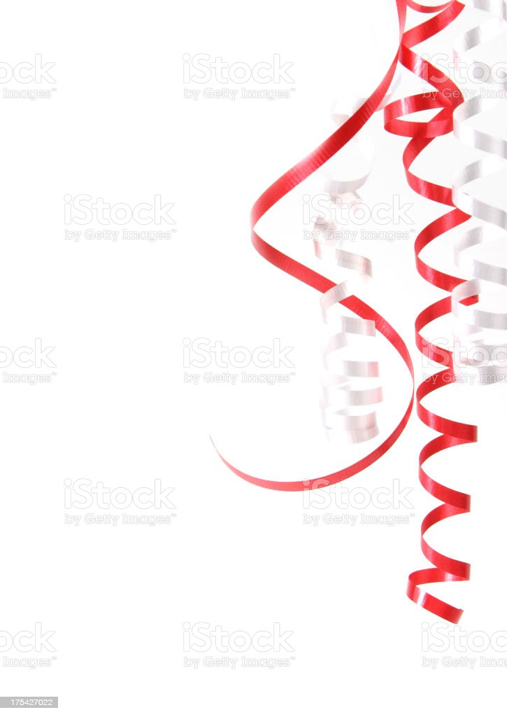 Ribbons Series (on white with copy space) royalty-free stock photo