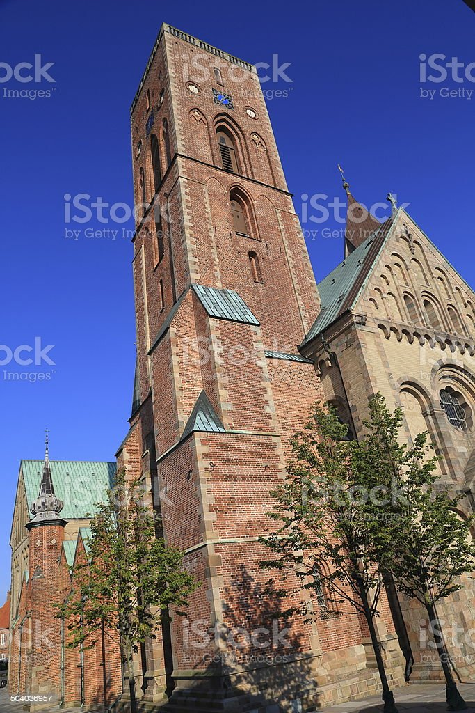 Ribe Domkirke cathedral, Denmark royalty-free stock photo