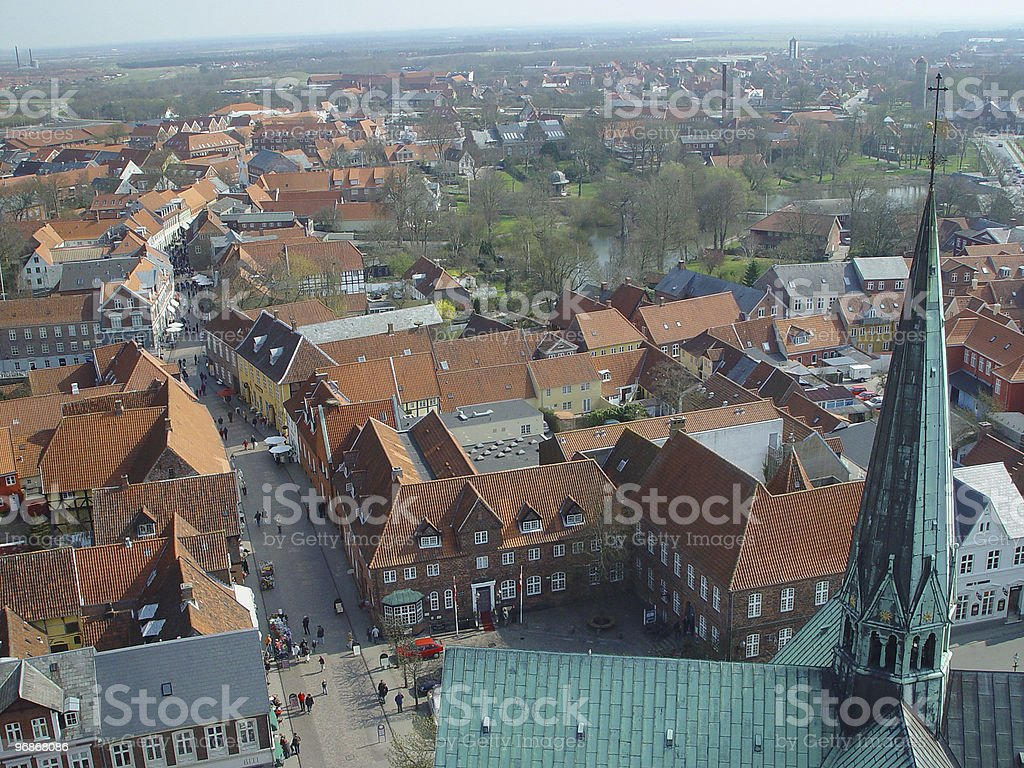 Ribe, from above stock photo