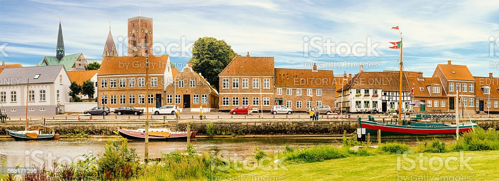 Ribe main Canal stock photo