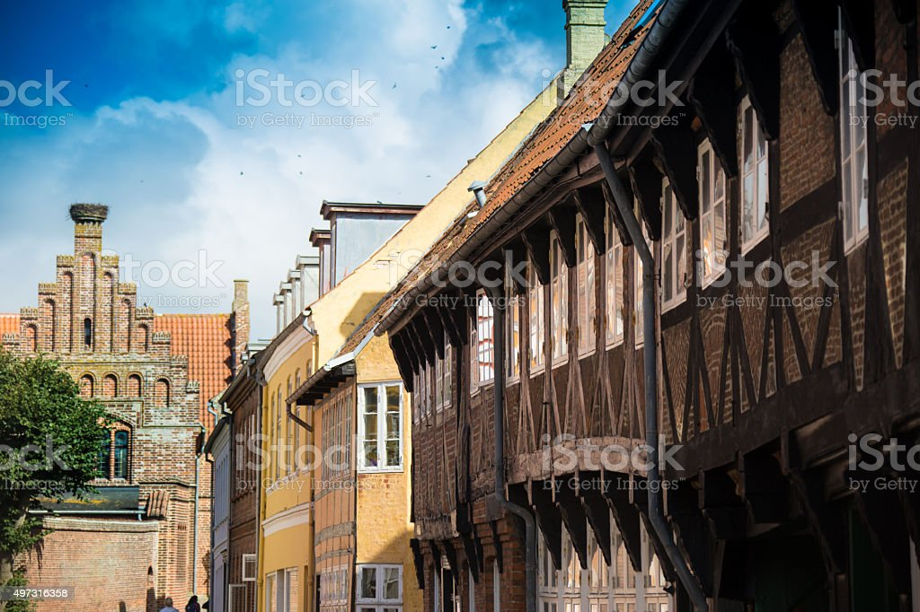 Ribe Town In Denmark stock photo