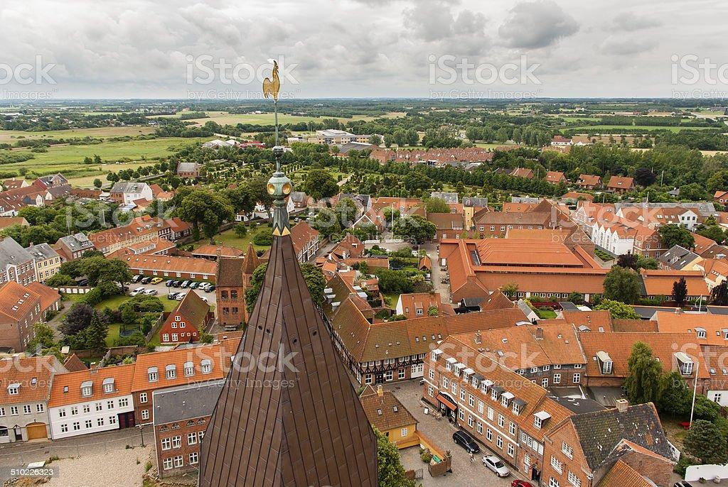 Ribe town stock photo