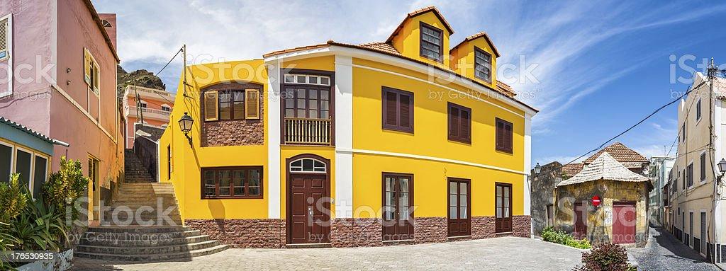 Ribeira Grande on Santo Antão, Cape Verde stock photo