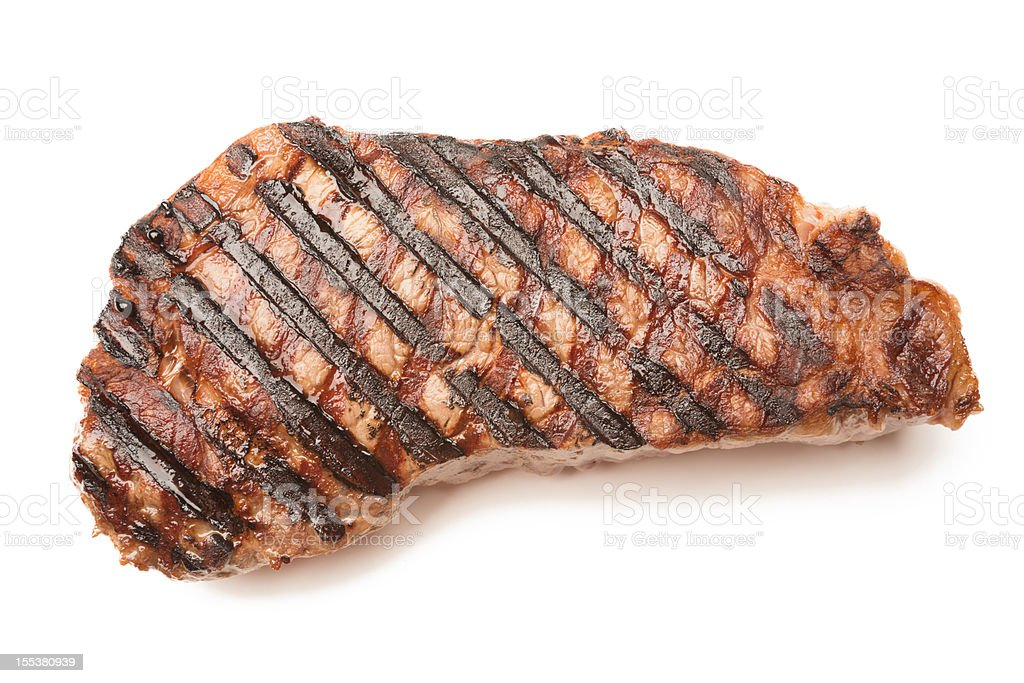 Ribeye Beef Steak Isolated on White stock photo
