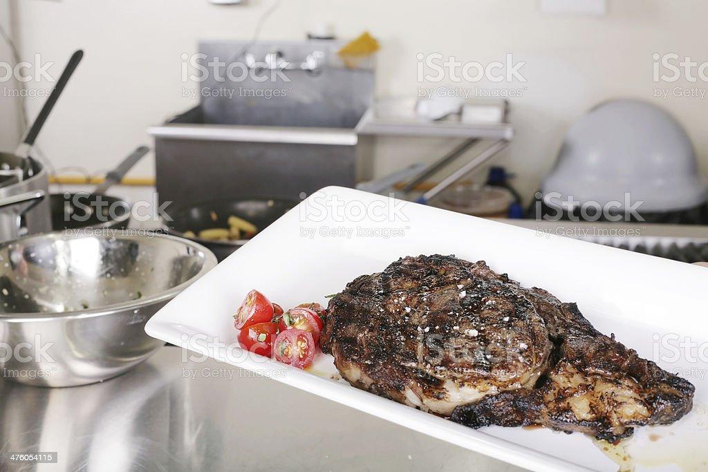 ribeye ready to eat royalty-free stock photo