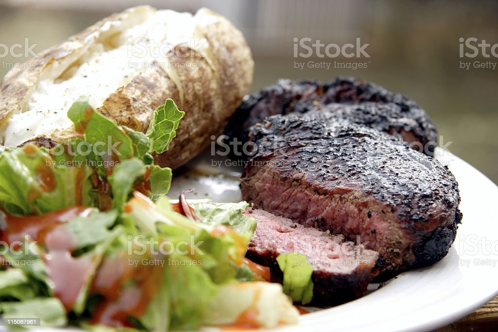 rib-eye steak dinner royalty-free stock photo