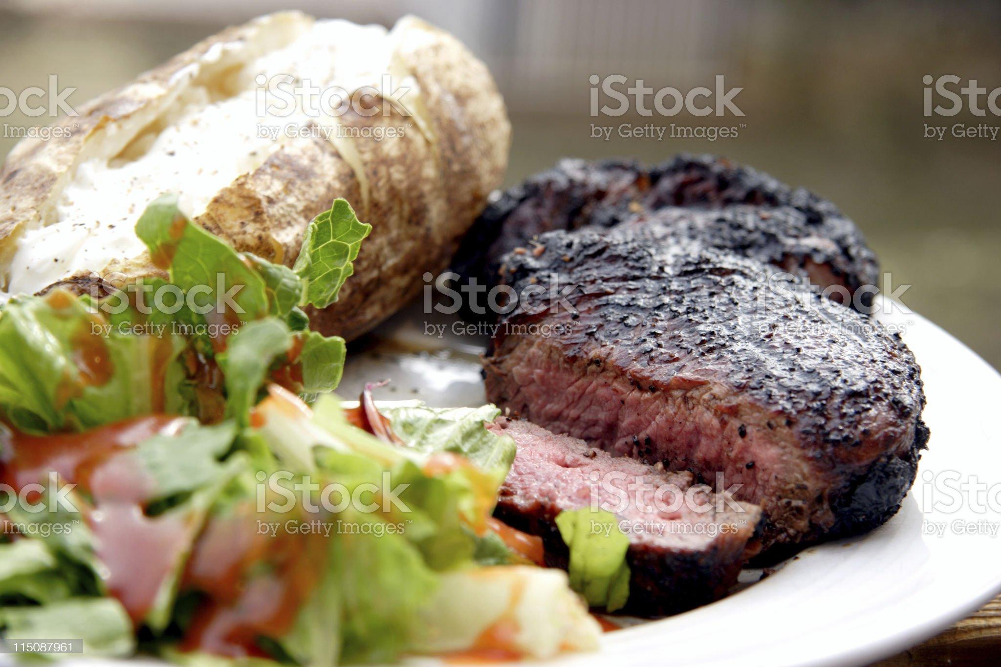 rib-eye steak dinner royalty-free stock photo