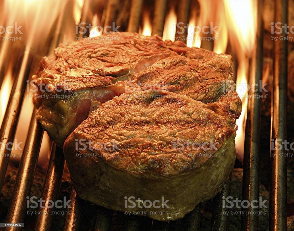 Ribeye steak grilled royalty-free stock photo