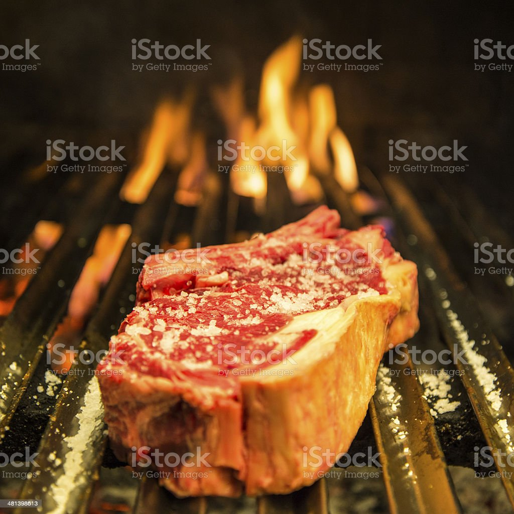 Ribeye steak grilled stock photo