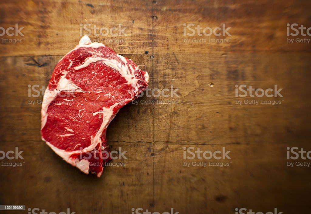 rib-eye steak stock photo
