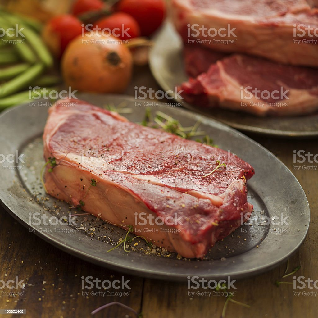 rib-eye steaks royalty-free stock photo