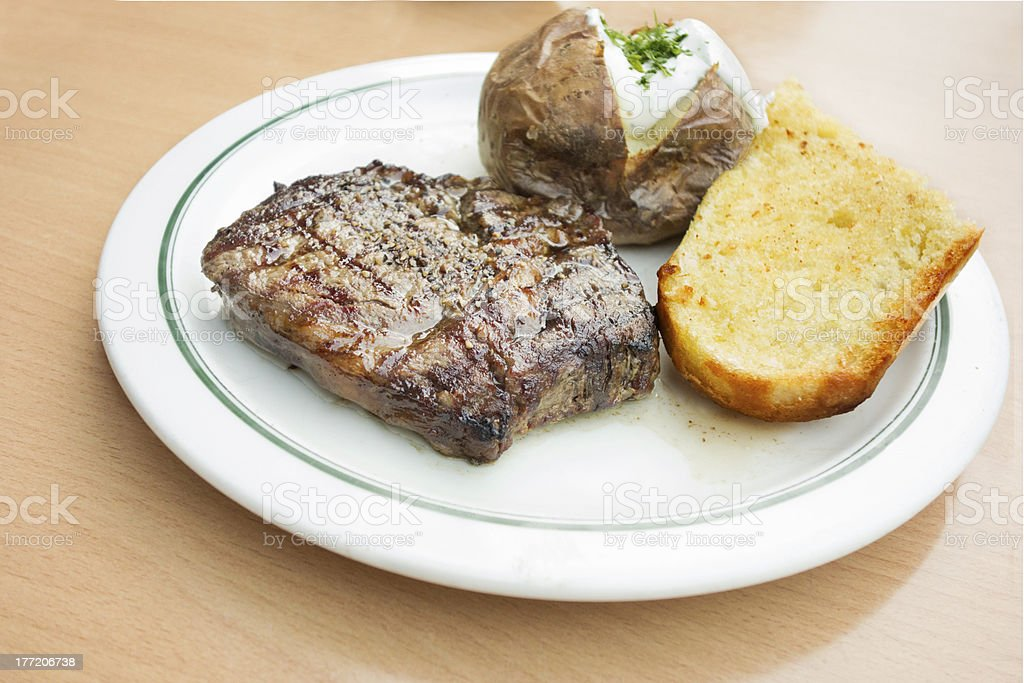 Rib-Eye-Steak menu stock photo
