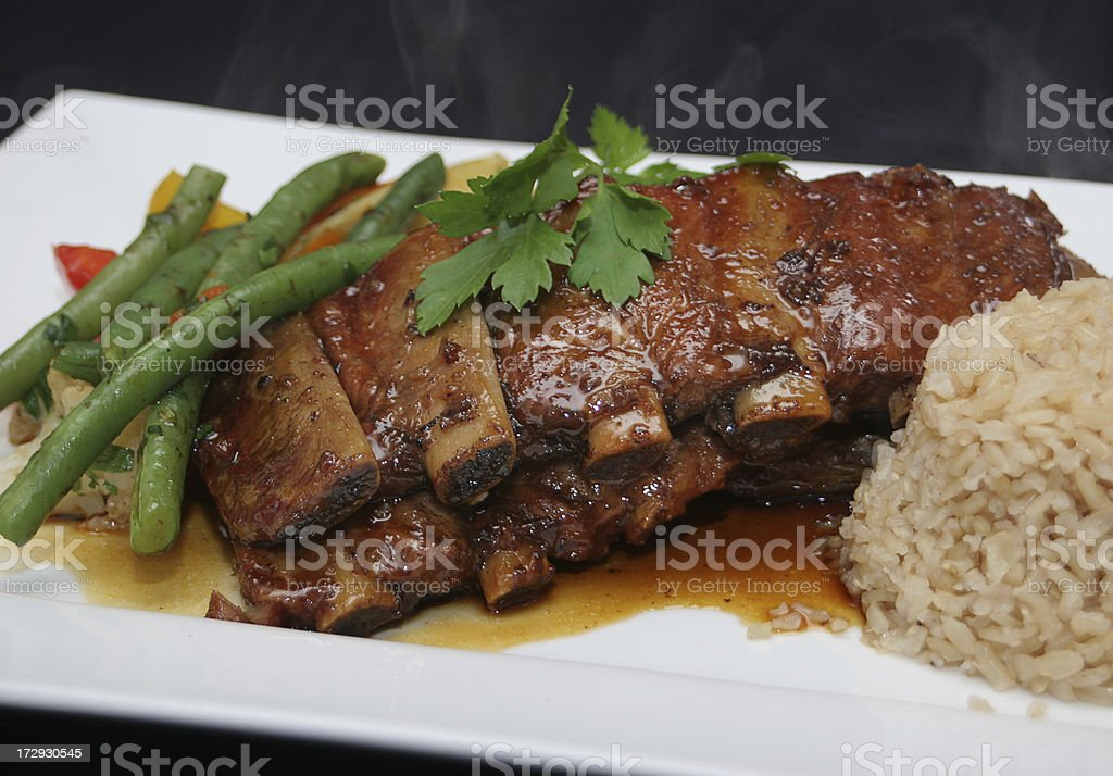 Ribs and Sauce stock photo
