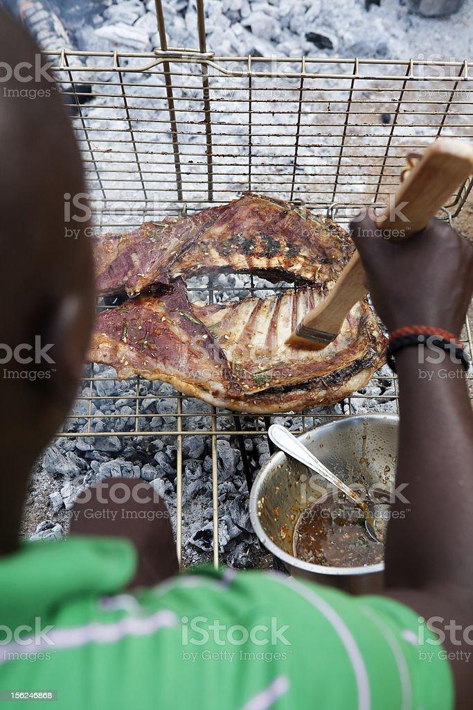 Ribs Barbecue royalty-free stock photo