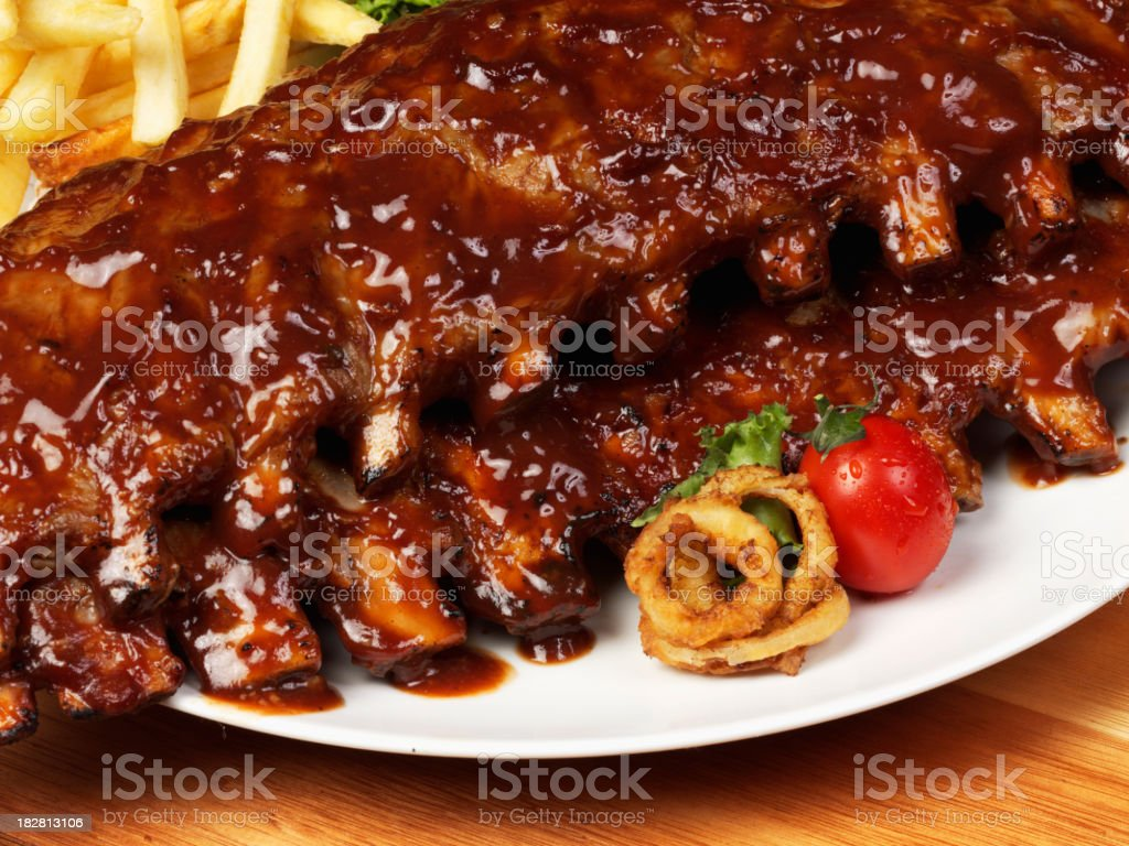 Ribs Close up stock photo