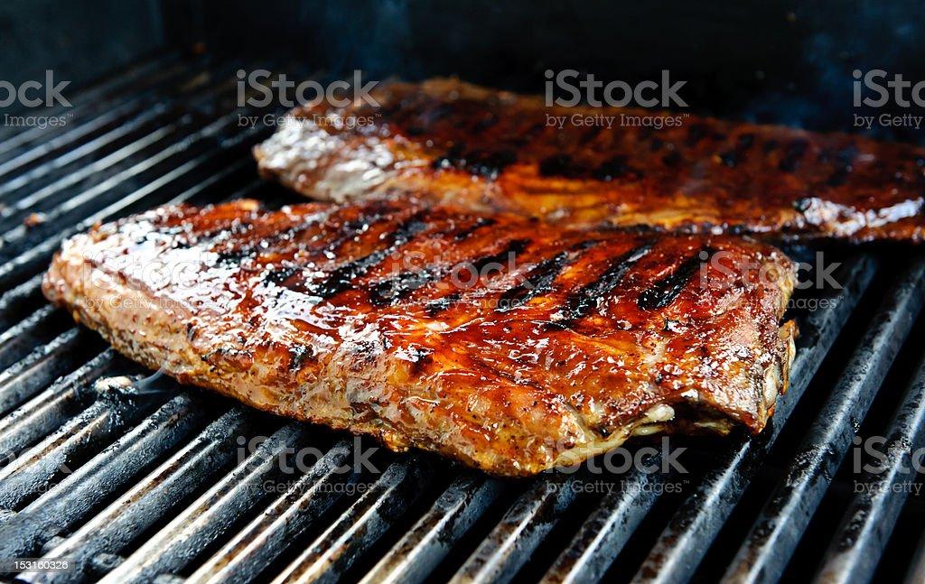 Ribs on the grill royalty-free stock photo